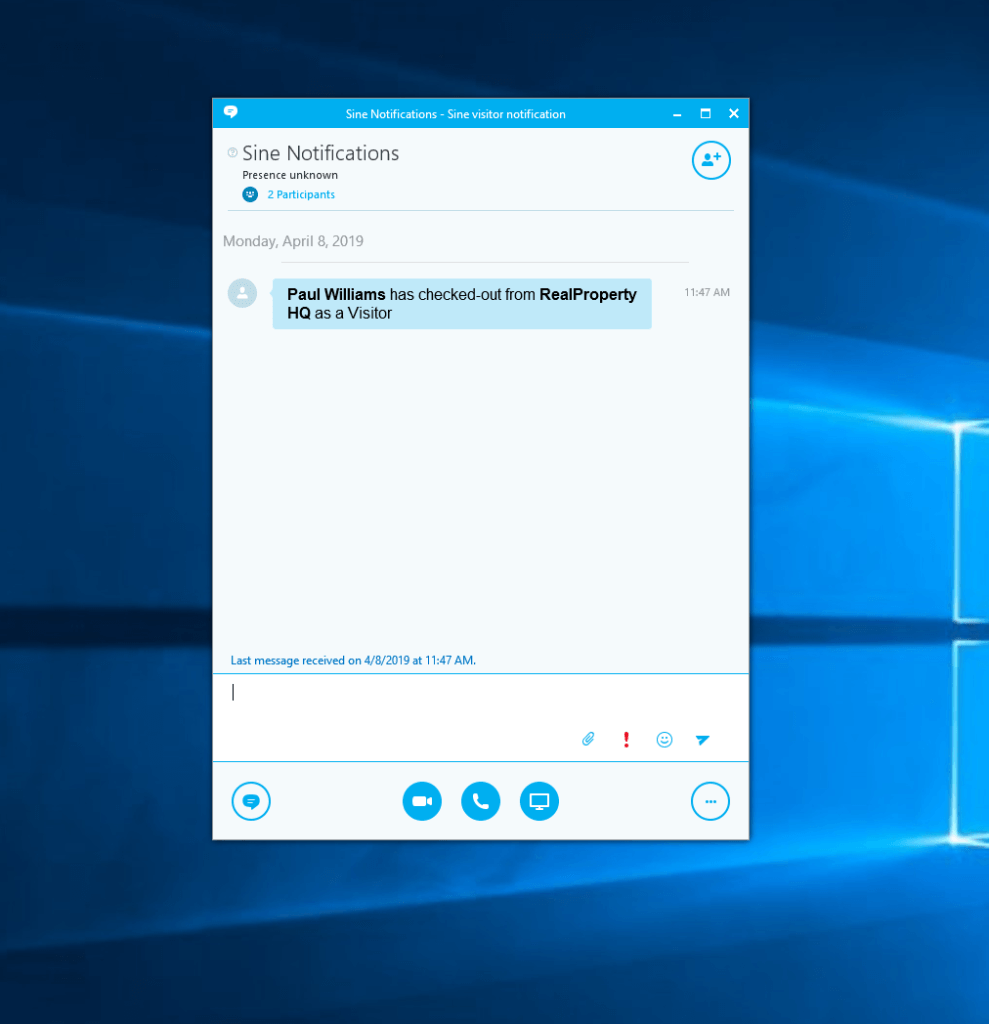 Skype for business text