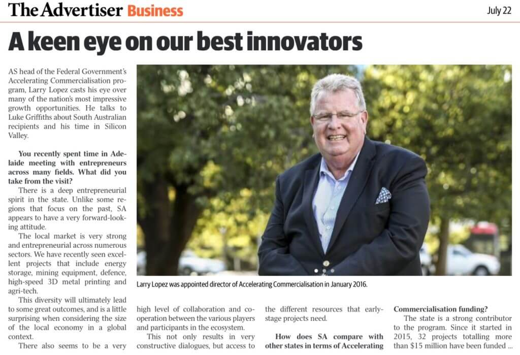 The advertiser business newspaper article