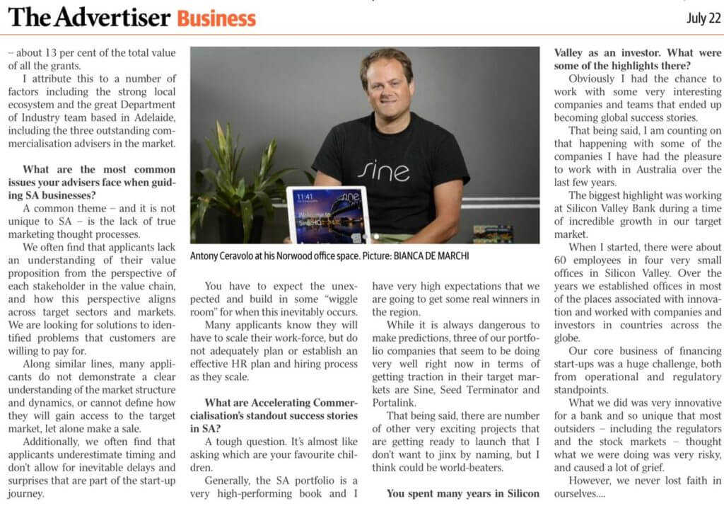 the advertiser business news article
