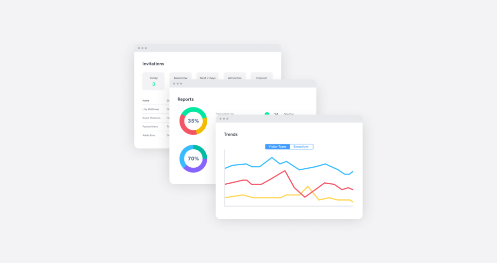 analytics and reporting from the sine dashboard