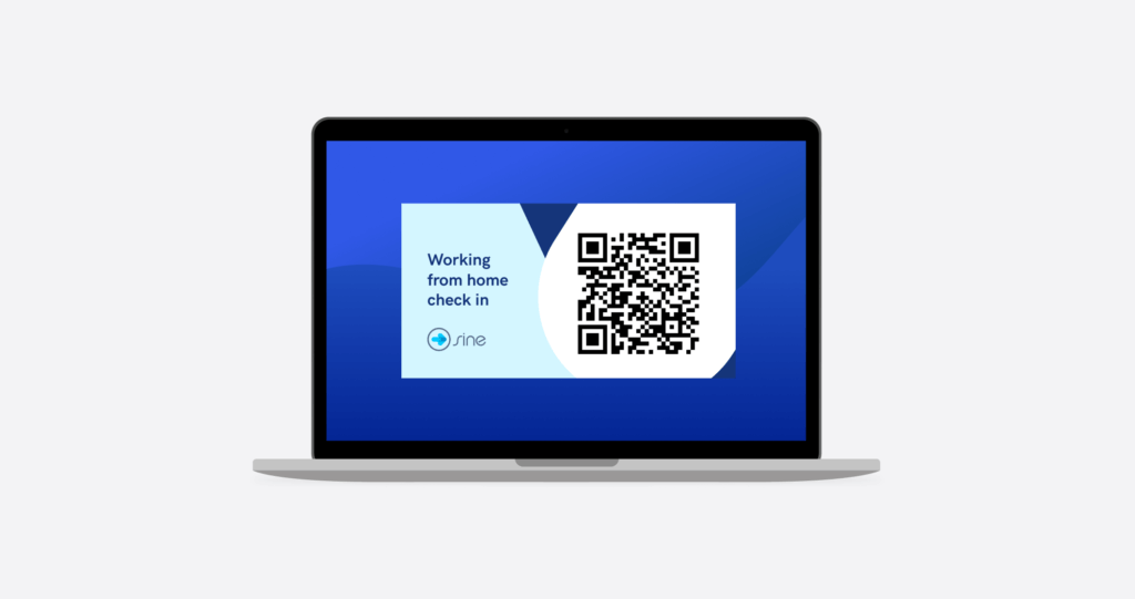 scan a qr code to check-in to work with Sine