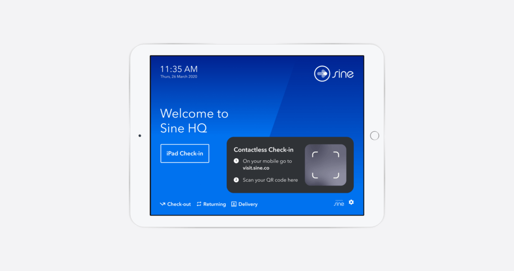 instant qr contactless check in from sine
