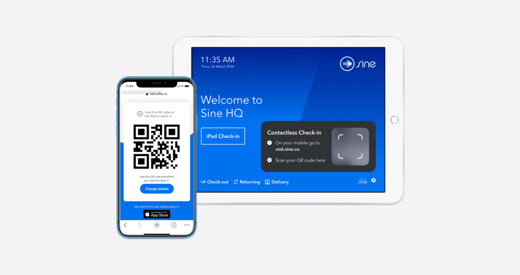 contactless visitor check-in solution