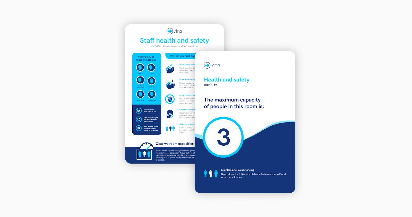 ease covid-19 re-entry anxiety with clear signage within the workplace