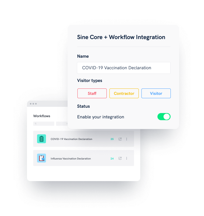 covid vaccination attestation workflow