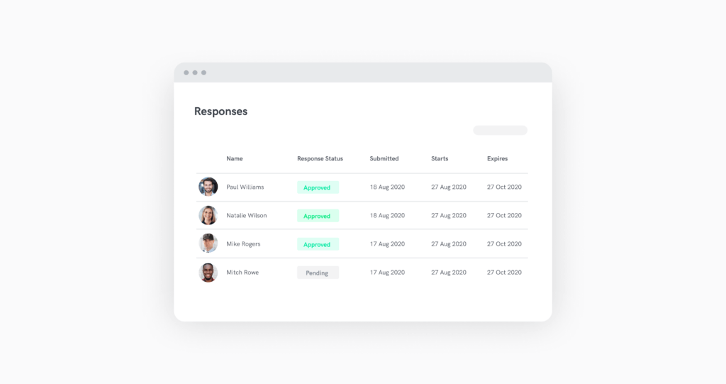 time and attendance monitoring in sine dashboard
