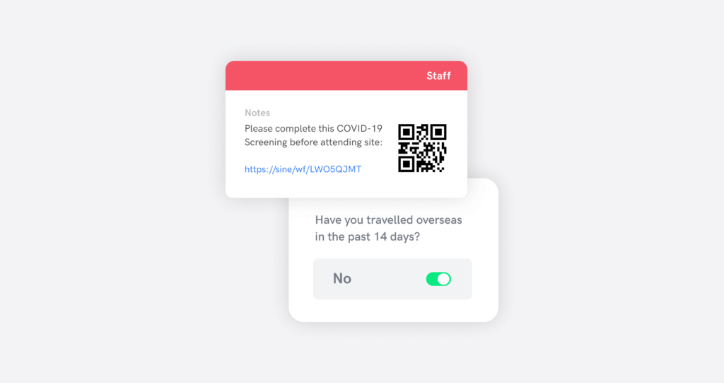 Government QR code tracking with Sine